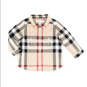 Burberry Infant Classic Check longSleeve Shirt 9M